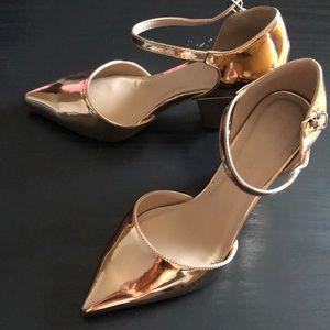 Asos gold color high heels